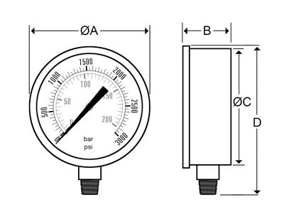 Dynamic Fluid Components, Inc  - CFC Glycerine-Filled